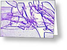 Broken Glass Purple Greeting Card
