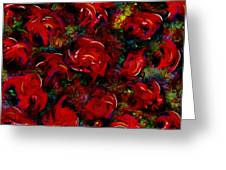 Broken Roses Greeting Card