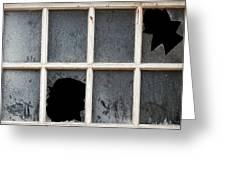 Broken Window Greeting Card