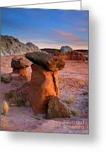 Brokentop Hoodoo Sunset Greeting Card