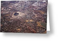 Broncos Stadium Aerial Greeting Card