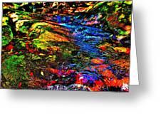 Brook Texture 52 Greeting Card