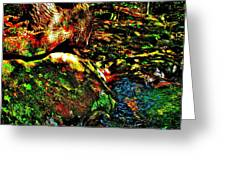 Brook Texture 58 Greeting Card