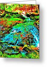 Brook Texture 85 Greeting Card