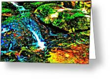 Brook Texture 86 Greeting Card