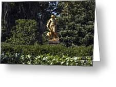 Brookgreen Golden Statue Greeting Card