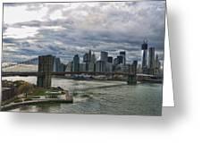 Brooklyn Bridge Carousel Greeting Card
