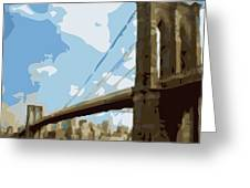 Brooklyn Bridge Color 16 Greeting Card