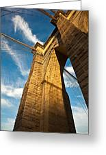 Brooklyn Bridge End Of The Day Greeting Card
