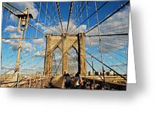 Brooklyn Bridge Summer Greeting Card