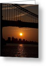 Brooklyn Bridge Sunrise Greeting Card