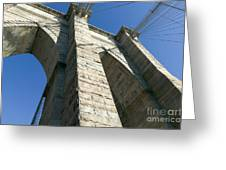 Brooklyn Bridge Tower I Greeting Card