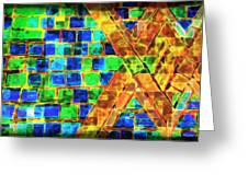 Brooklyn Tile Abstract Greeting Card