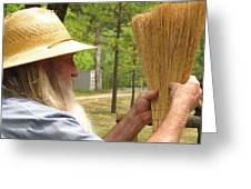 Broom Maker Greeting Card