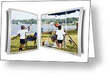 Brothers Fishing - Oof Greeting Card