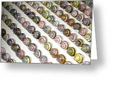 Brown-lipped Snail Colour Variants Greeting Card