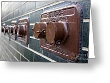 Brown Pipes Greeting Card
