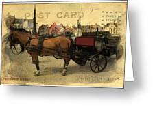 Brugge Carriage Greeting Card