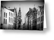 Brussels In Black And White Greeting Card