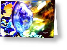 Bubble Abstract 001 Greeting Card