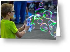 Bubble Boy Greeting Card
