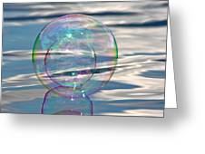 Bubble In A Bubble Greeting Card