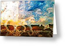 Bubble Landscape Abstract Greeting Card