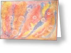 Bubbles Original Abstract Watercolor Greeting Card