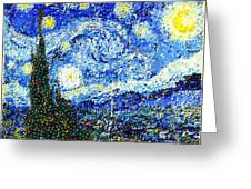 Bubbly Starry Night Greeting Card