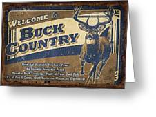 Buck Country Sign Greeting Card by JQ Licensing