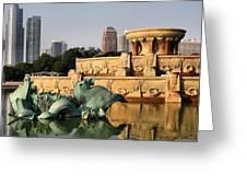 Buckingham Fountain - 3 Greeting Card