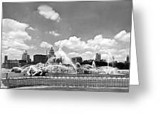 Buckingham Fountain In Chicago Greeting Card