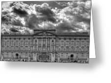 Buckingham Palace Bw Greeting Card