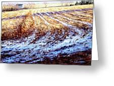Bucks County Late Winter Fields Greeting Card