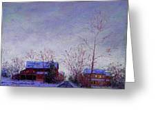 Bucks County Winter Twilight Greeting Card