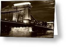 Budapest Nights Greeting Card