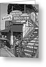 Bud'd Broiler New Orleans-bw Greeting Card