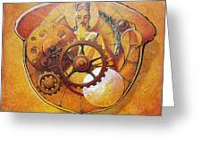 Buddah In An Acorn Greeting Card