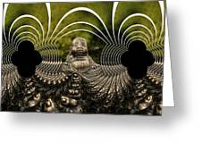 Buddha Fractal Greeting Card