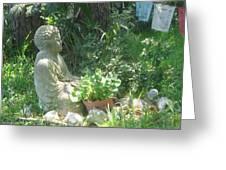 Buddha Greeting Card by Juliana  Blessington