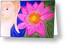 Buddha Lotus Peace Greeting Card