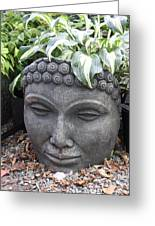 Buddha On A Hot Summer Island Day Greeting Card