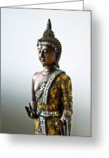 Buddha Statue With A Golden Robe Greeting Card