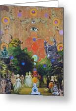 Buddha's Garden Party Greeting Card by Douglas Fromm