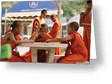 Buddhist Childhood Greeting Card
