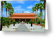 Buddhist Temple In Houston Greeting Card