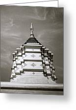 Buddhist Temple Wat Luang In Chiang Khong In Thailand Greeting Card