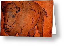 Buffalo Art Greeting Card
