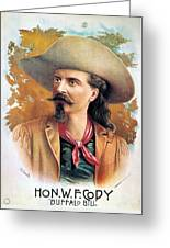 Buffalo Bill Cody, C1888 Greeting Card