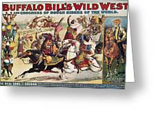 Buffalo Bill: Poster, 1899 Greeting Card